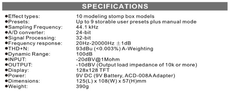 Nux Drive Forte - Špecifikácia